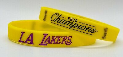 LOS ANGELES LAKERS 2020 NBA CHAMPIONS SILICONE WRISTBAND BRACELET