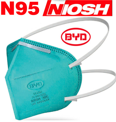 3M N95 Protective Disposable Face Mask Cover NIOSH Respirator 10 PACK NEW