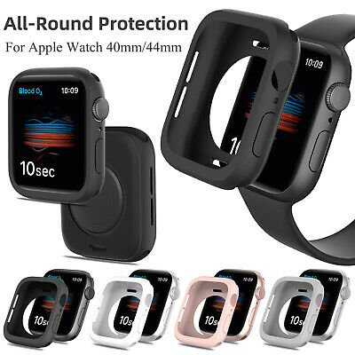 For iWatch Apple Watch Series SE 6 5 4 40mm 44mm Case Soft TPU Bumper Full Cover