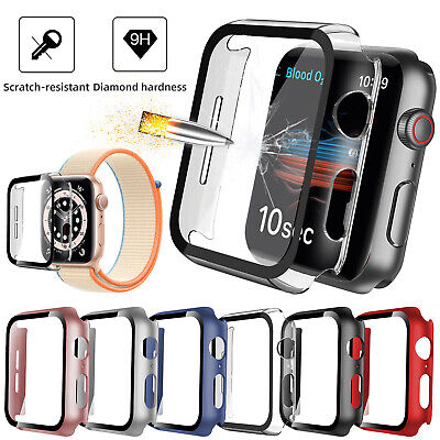 For iWatch Apple Watch Series SE 6 5 4 4044mm Full Screen Protector Cover Case