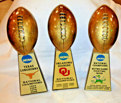 LARGE 15 ALL SCHOOLS COLLEGE UNIVERSITY  NCAA NATIONAL CHAMPIONSHIP FOOTBALL