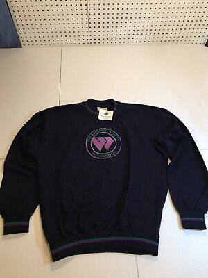 Vtg Kent - Curwen Wimbledon Sweatshirt Tennis Embroidered XL Purple Green NWT