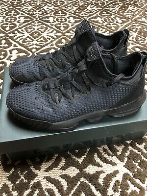 Nike Lebron 16 low triple black Size 9-5