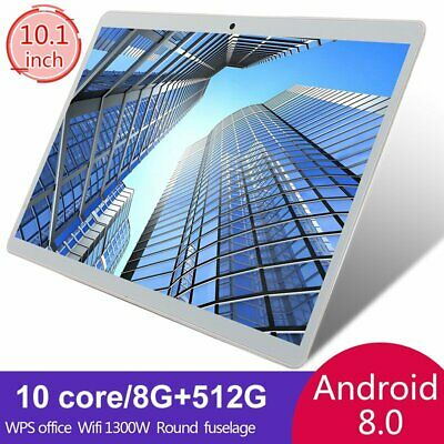 10-1 inch WIFI Tablet HD 8-512GB Tablet Android 8-0 Pad 10 Core GPS Dual Camera