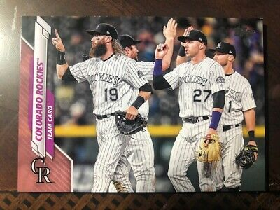 2020 Topps Mothers Day Pink Colorado Rockies TC 417 4650