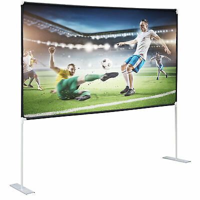 100 Projector Screen with stand 169 Projection HD Home Theater Movie Screen