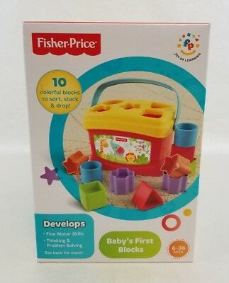 Fisher Price First Blocks Babys Basics Ages 6-36 Months NEW