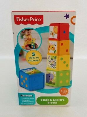 Fisher Price Blocks Stack - Explore Ages 6-36 Months NEW