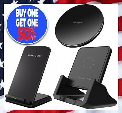 Qi Wireless Fast Charger Charging Stand Pad Dock for Samsung iPhone LG Android