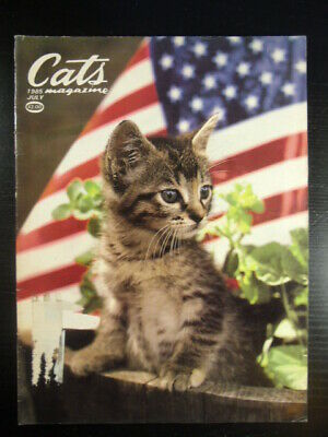 Cats Magazine 1985 JULY BETTY POWELL FOURTH OF JULY COVER KITTEN