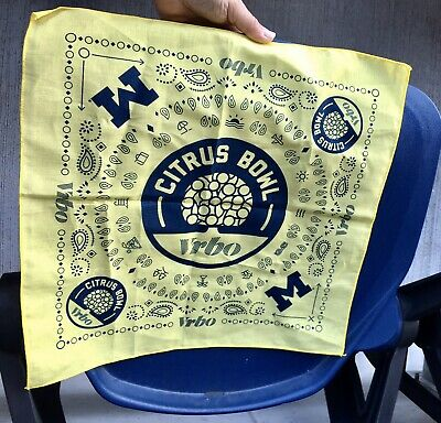 Orlando Citrus 🍊 Bowl Limited Michigan Bandana only Given Out At The Game