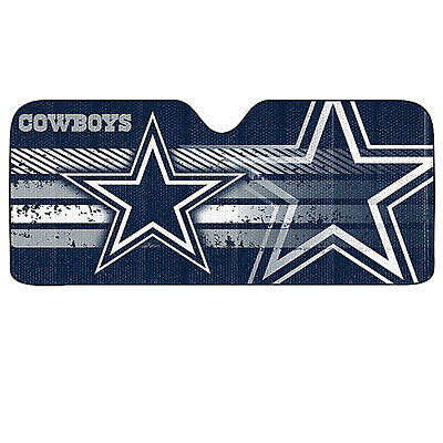 New NFL Dallas Cowboys Sunshade Bubble double sided 58x 27 Universal