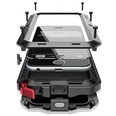 Shockproof Aluminum Gorilla Glass Metal Case for iPhone 12 Pro Max 11 Xs XR 7 8-