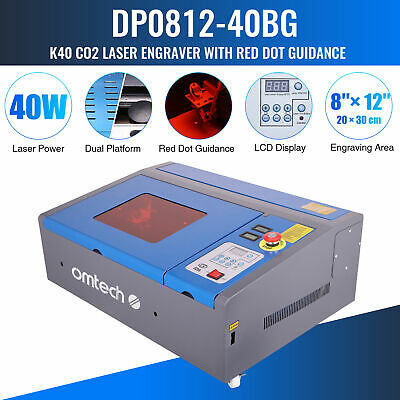 OMTech 12x 8 40W CO2 Laser Engraver Cutter Engraving Machine Red Dot Guidance