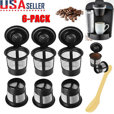 6-Pack My K-Cup Reusable Replacement Coffee Filter Refillable Holder for Keurig