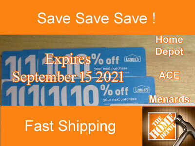 20 Lowes 10 Off for Home Depot only - Expires September 15 2021