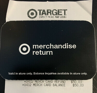 50-03 Target Merchandise Credit Gift Card - In Store Use Only