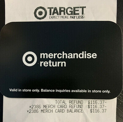116-37 Target Merchandise Credit Gift Card - In Store Use Only