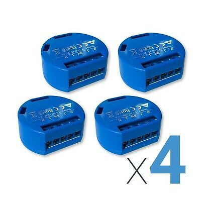 LOT of 4 SHELLY 1 Smart Home Device 4-pack Relay Switch 16A Wi-Fi