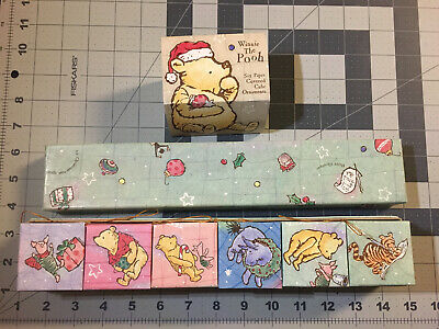 Winnie The Pooh Ornaments Set of 6 Paper Cube With Box By Michel - Co Christmas