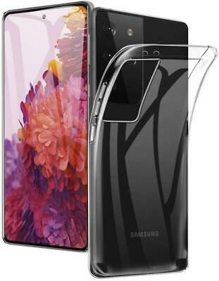 For Samsung Galaxy S21 Plus Ultra 5G Case Slim Clear Silicone Gel Phone Cover