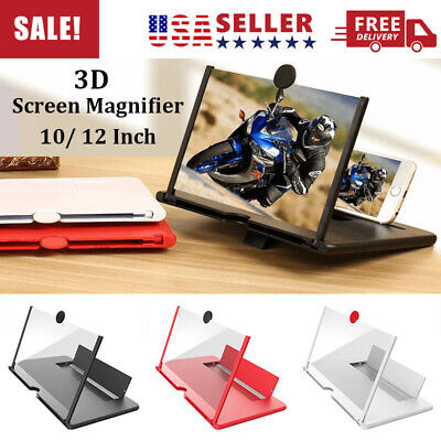 12 Mobile Phone Screen Magnifier HD 3D Video Amplifier Pull-out Stand Bracket