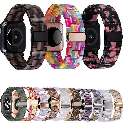 38424044mm Resin Wrist Band Strap For Apple Watch iWatch Series SE 65432