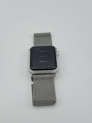 Apple Watch Series 3 GPS 38mm Silver Aluminum with Silver Band No Charger Read