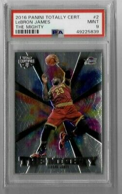 LEBRON JAMES 2016-17 TOTALLY CERITIFED THE MIGHTY PSA 9 LA LAKERS CLEVELAND CAVS