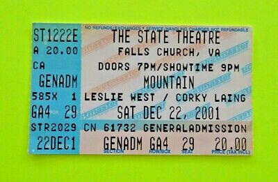 LESLIE WEST Mountain Corky Laing STATE THEATER Va- 19 yrs TODAY RIP 12222001