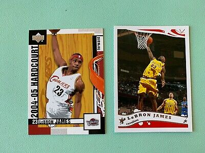 LeBron James 2005-06 Topps - 2004-05 UD Hardcourt - 2 Cards CAVALIERS LAKERS