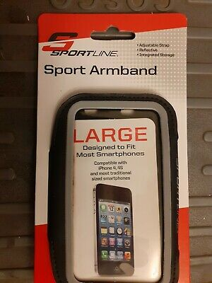 Sportline Sport Phone Armband Black Lrg for Most Smartphone iPhone 4 5 Android