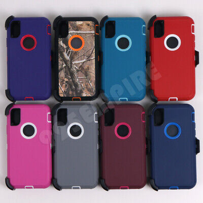 For Apple iPhone XXRXS MAX Rugged Armor Shockproof Case Cover With Belt Clip