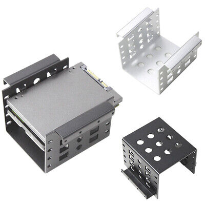 1pc Aluminum 4 Bay 2-5 in SATA HDD SSD to 3-5 in Bracket Adapter 2