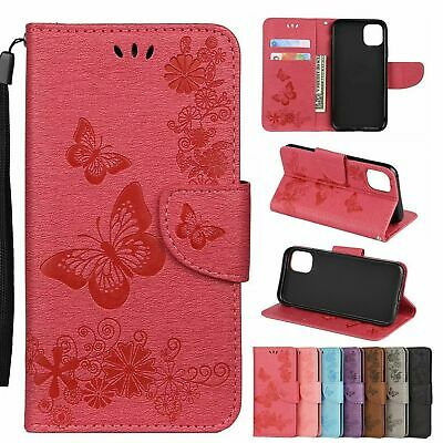 For iPhone 12 Pro Max 11 Xs 6s 8 7 Butterfly PU Leather Flip Wallet Case CoVER