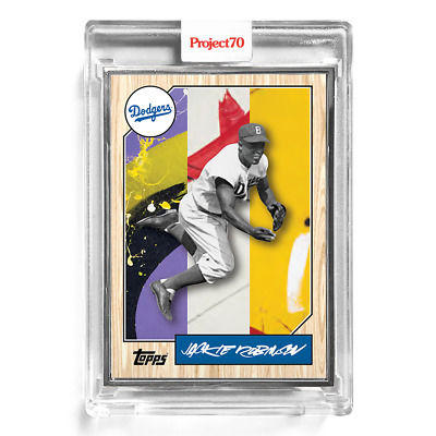Topps Project70 Card 42 - 1987 Jackie Robinson by Futura - Artist Proof  to 51