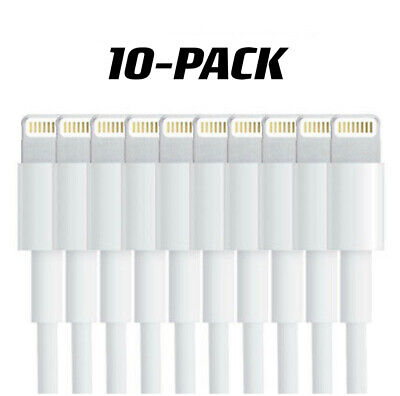 【10-PackCharging Cable Charger Cord for Apple iPhone XR X Xs MAX 8 7 6 6S PLUS