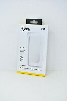 BodyGuardz Pure-2-Edge Antimicrobial Glass Screen Protector iPhone 12 Pro Max