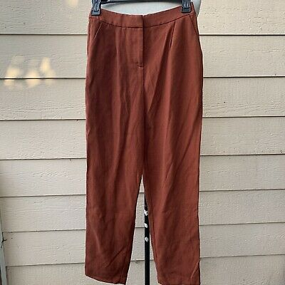 Vetta The Every Day Pant Rust Causal Women Burnt Orange Crop Trouser Cocktail 0