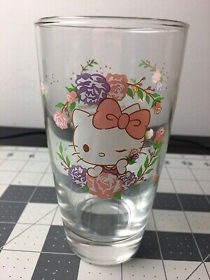 2019 Hello Kitty Sanrio Glass Cup  Pot Planter Limited