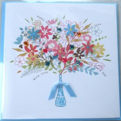 Papyrus Rhinestone Floral Flowers Mothers Day Greeting Card