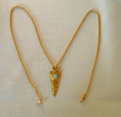 STUNNING 18K GOLD ARROW HEAD CHARM WITH 14K ROPE NECKLACE WEIGHS 13.7 GRAMS
