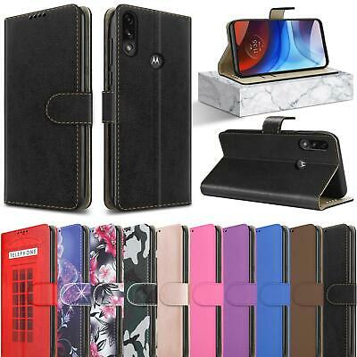 For Motorola Moto E7i Power Case Leather Wallet Stand Phone Cover - Screen Glass