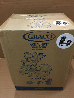 Graco FastAction Fold Click Connect Travel System w Snugride 30 Car Seat Bennet