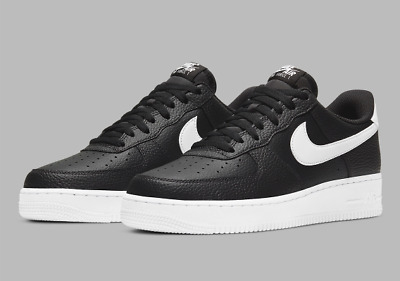Nike Air Force 1 07 Leather Shoes Black White CT2302-002 Mens Multi Size NEW