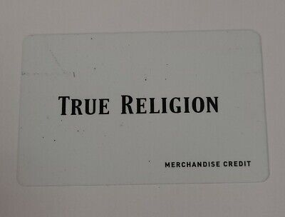 TRUE RELIGION BRAND JEANS GIFT CARD 139-58