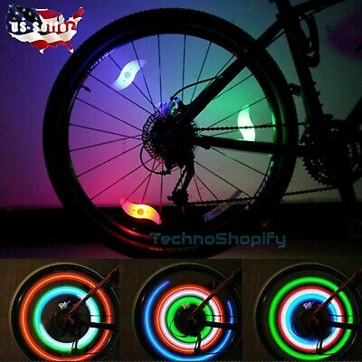 Colorful BIKE Tire Wheel Wire LED LIGHT SAFETY LAMP Cycling Waterproof Bicycle