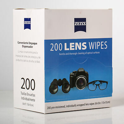 Zeiss 1200 200 600 Pre-Moistened Lens Cleaning Wipes for Eyeglasses Camera Phone
