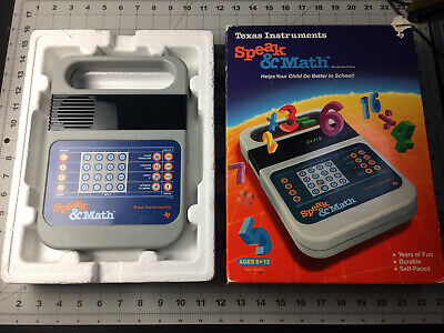 Speak - Math Texas Instruments 1987 Learning Toy Tested Works With Box
