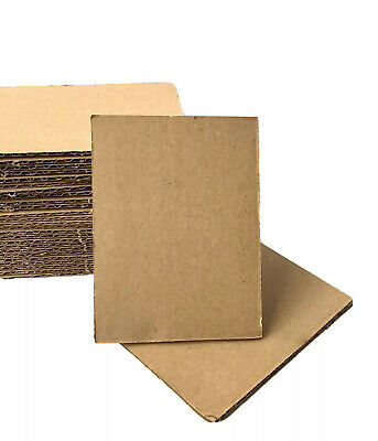Corrugated Cardboard Sheets Inserts 100 Pack For Mailing Packing Crafts 3x4 in